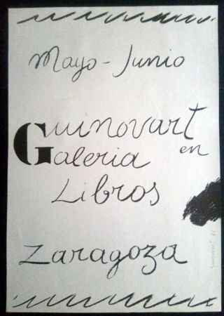 Affiche Guinovart - Guinovart en la Galeria libros - Zaragoza - 1972