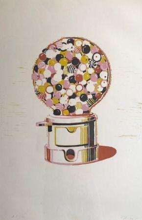 Linogravure Thiebaud - Gumball Machine