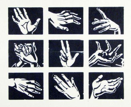 Gravure Sur Bois Scheele - Hände (Hands)