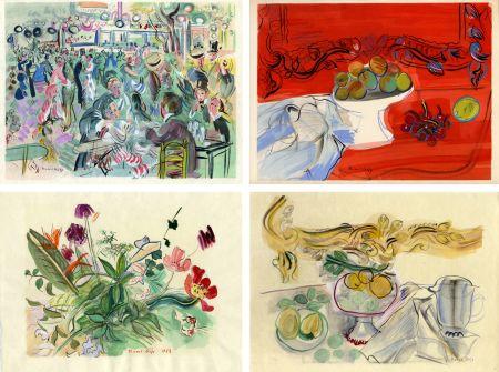 Livre Illustré Dufy - Héron de Villefosse : EAUX DE VIE (12 pochoirs de Raoul Dufy) 1952