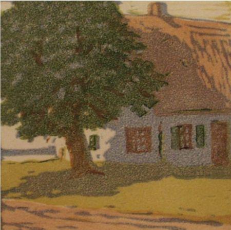 Gravure Sur Bois Mass - Hütte / Cottage