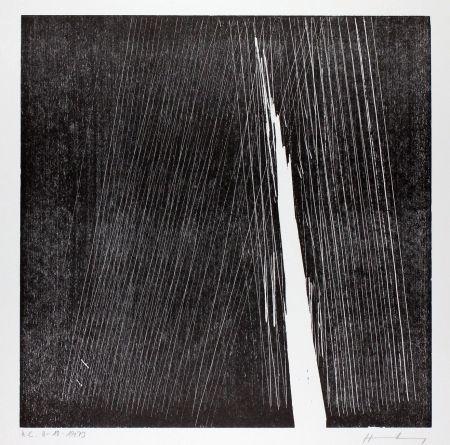 Gravure Sur Bois Hartung - H-18-1973