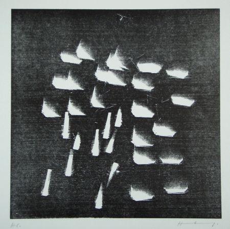 Gravure Sur Bois Hartung - H-19-1973