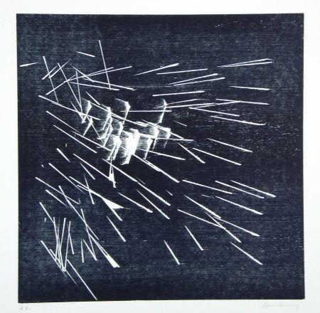 Gravure Sur Bois Hartung - H-22-1973