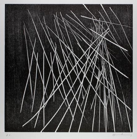 Gravure Sur Bois Hartung - H-8-1973