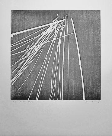 Gravure Sur Bois Hartung - H 1973-21