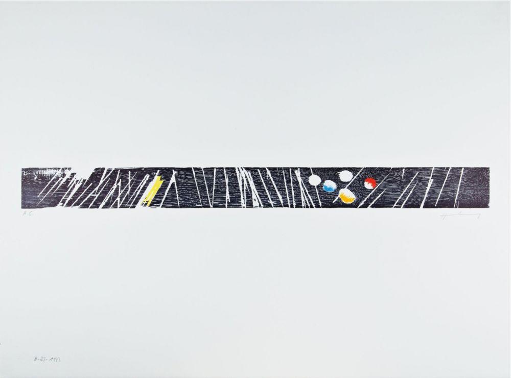 Gravure Sur Bois Hartung - H 1973-23