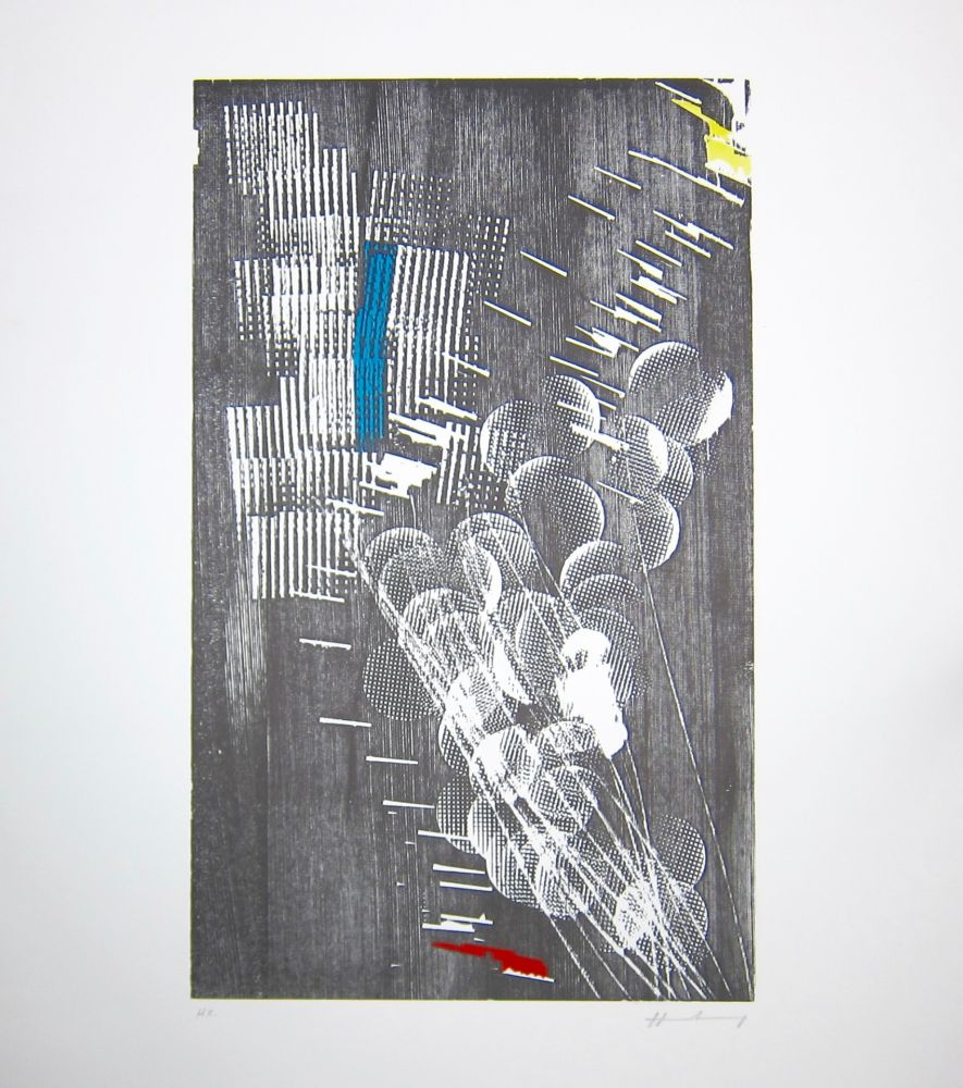 Gravure Sur Bois Hartung - H 1973-3