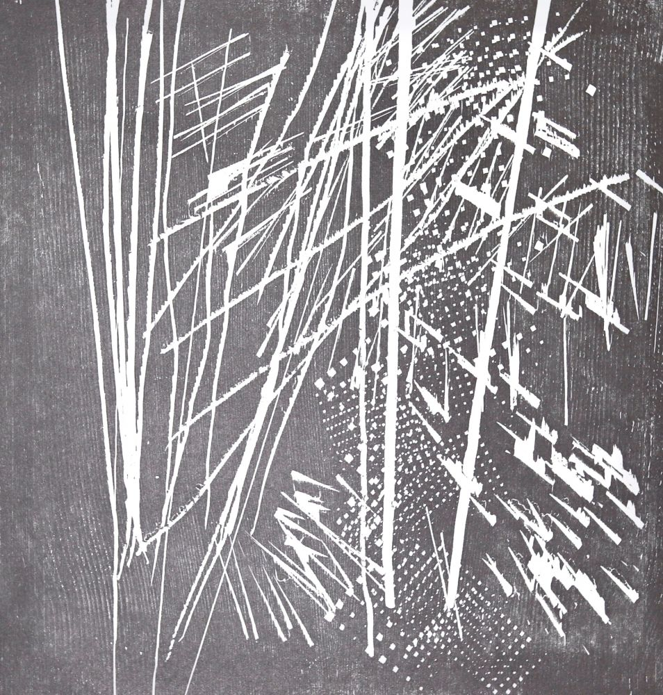 Gravure Sur Bois Hartung - H 1973-9