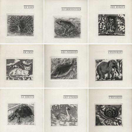 Livre Illustré Foujita - H. Chaumet : BÊTES & Cie. 25 eaux-fortes de Foujita (1927).