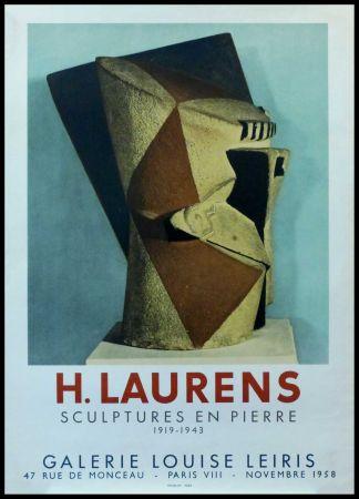 Affiche Laurens - H. LAURENS - GALERIE LOUISE LEIRIS SCULPTURES EN PIERRE