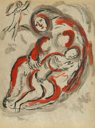 Lithographie Chagall - Hagar in The Desert from