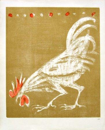 Lithographie Fischer - Hahn / Rooster