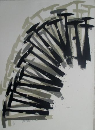 Lithographie Arman - Hammers