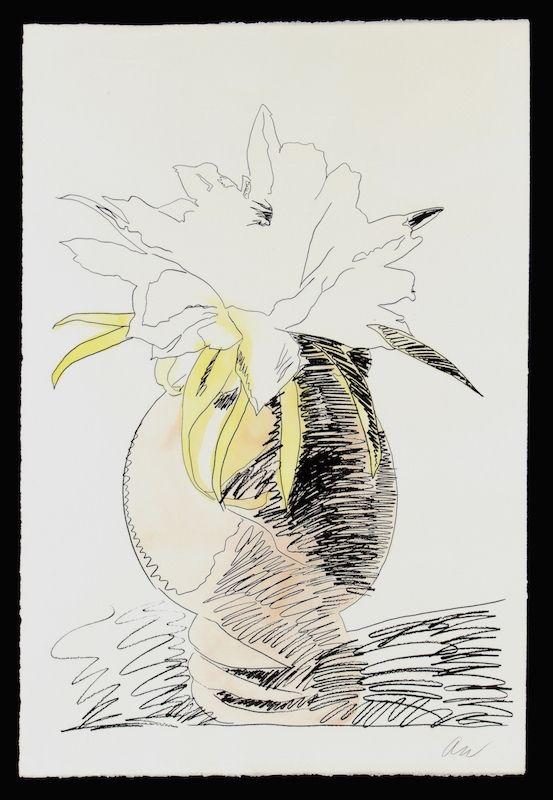 Sérigraphie Warhol - Hand Colored Flowers III.114