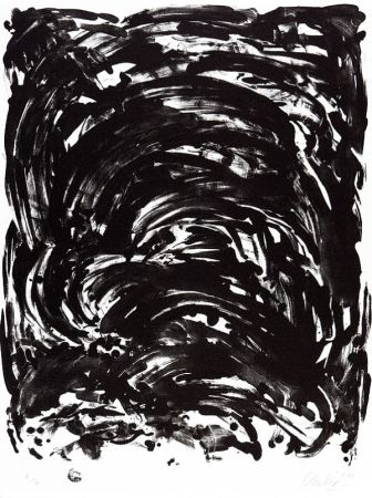 Lithographie Uecker - Handlung II