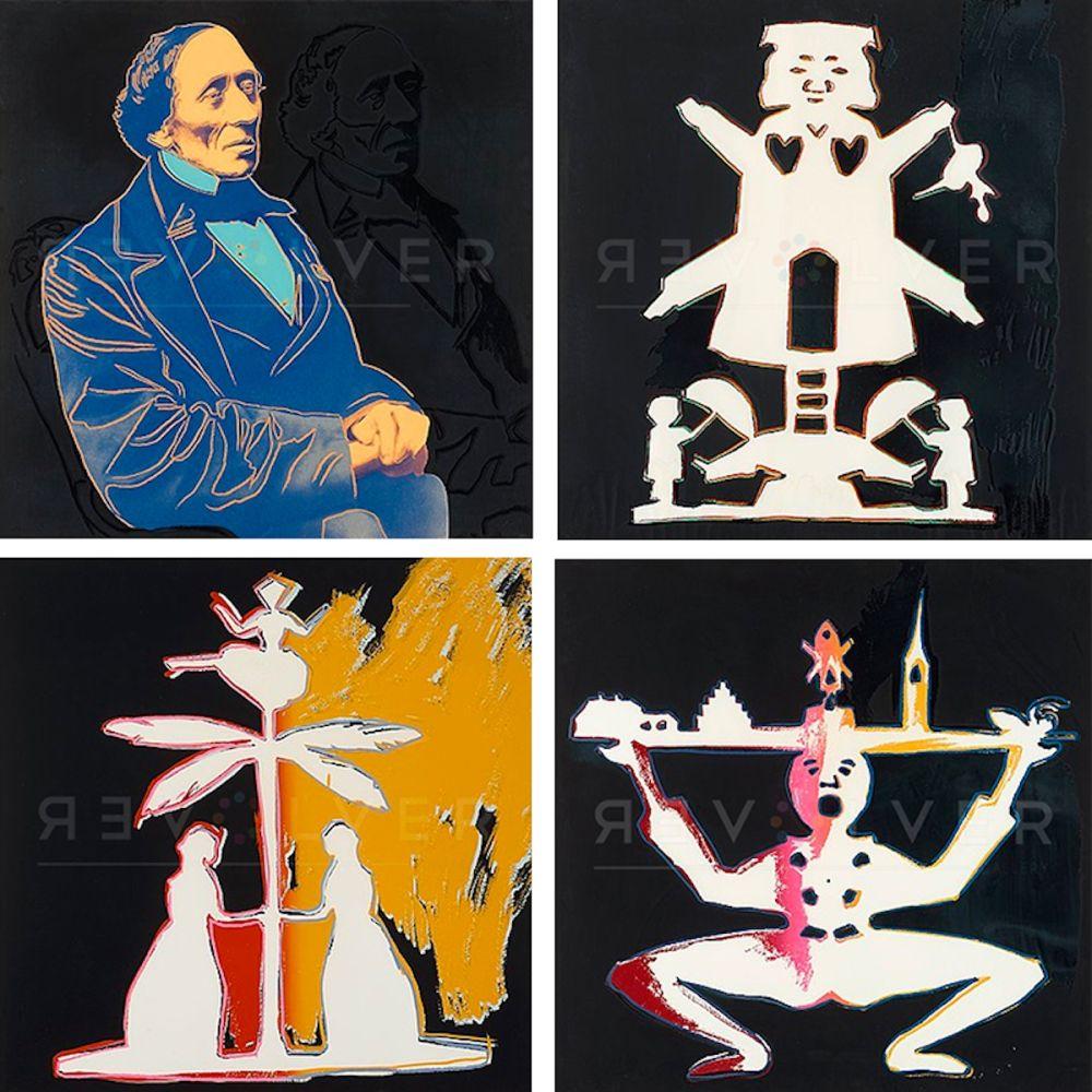 Sérigraphie Warhol - Hans Christian Andersen, Complete Portfolio (FS II.394-397)