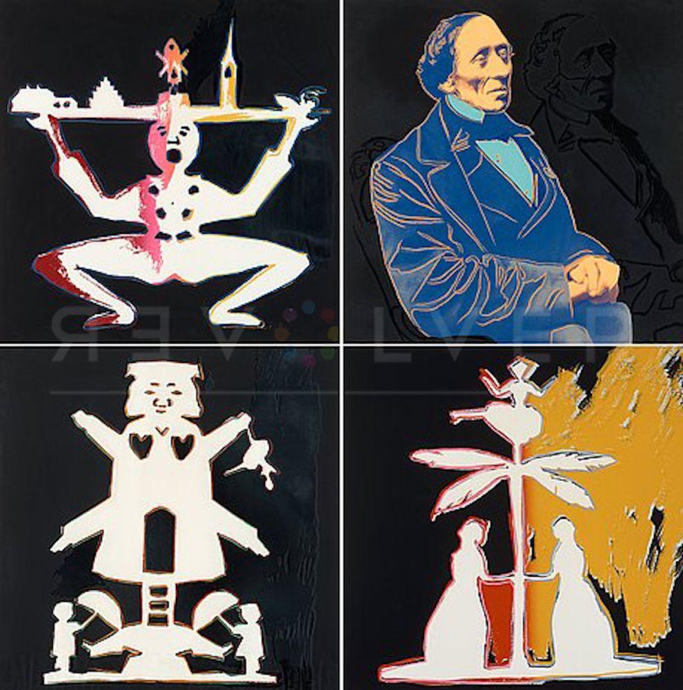 Sérigraphie Warhol - Hans Christian Andersen Complete Suite (FS II.398-II.401)