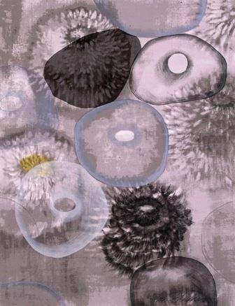 Sérigraphie Bleckner - Happiness For Instance I