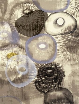 Sérigraphie Bleckner - Happiness For Instance III