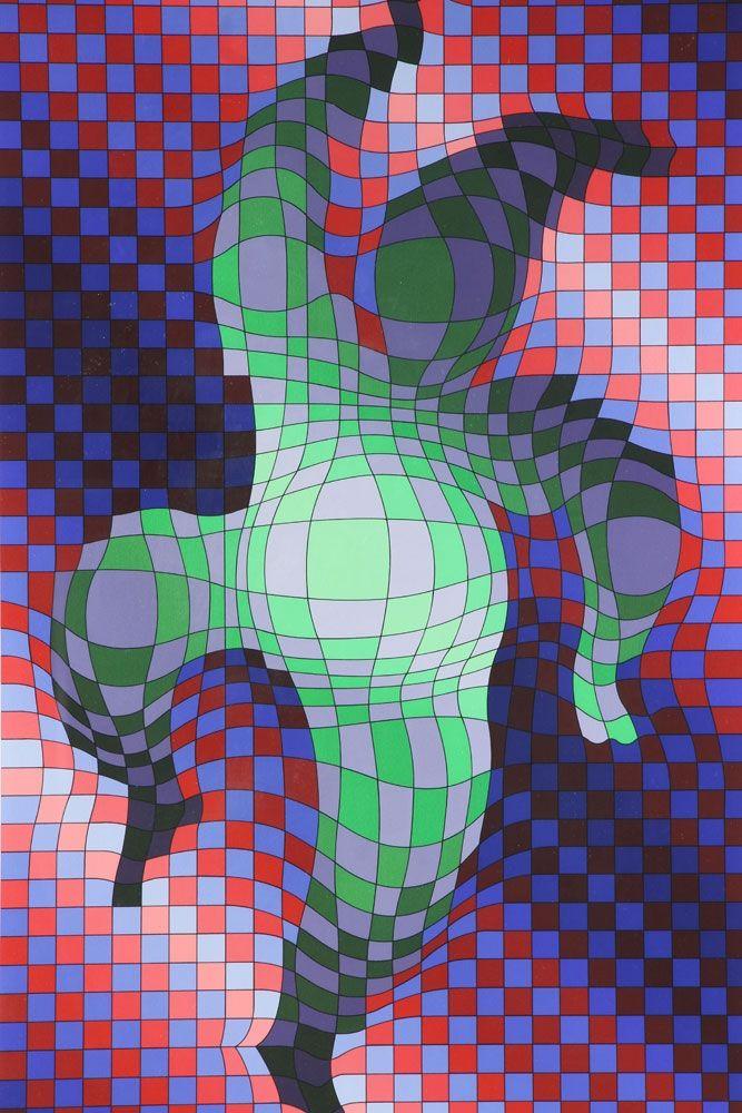 Multiple Vasarely - Harlequin