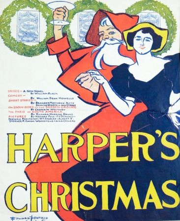 Lithographie Penfield - HARPERS CHRISTMAS 1895