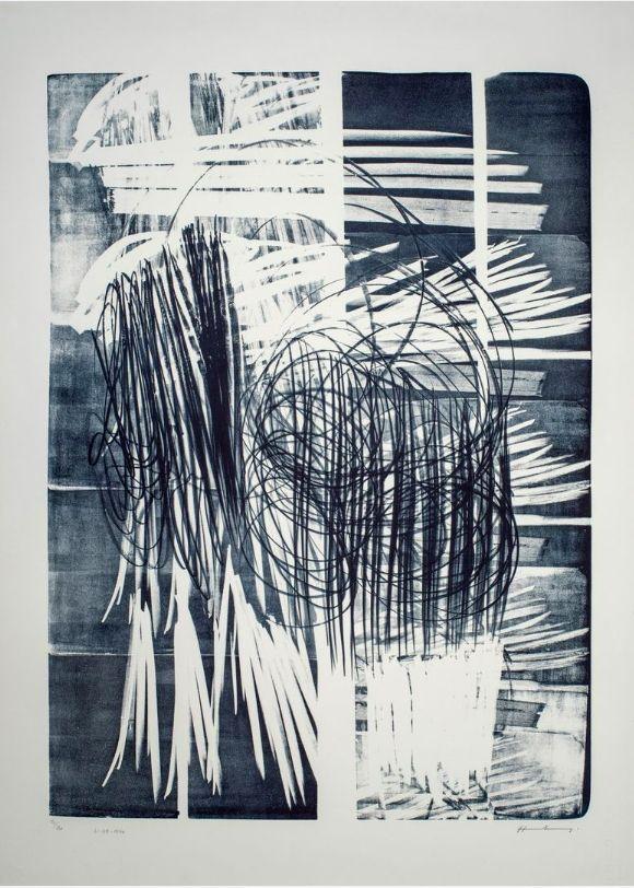Aucune Technique Hartung - Hartung Hans (1904-1989)  L-16B-1974  Lithographie en noir
