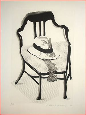 Eau-Forte Et Aquatinte Hockney - Hat on Chair