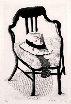 Eau-Forte Et Aquatinte Hockney - Hat on Chair, from Geldzahler Portfolio