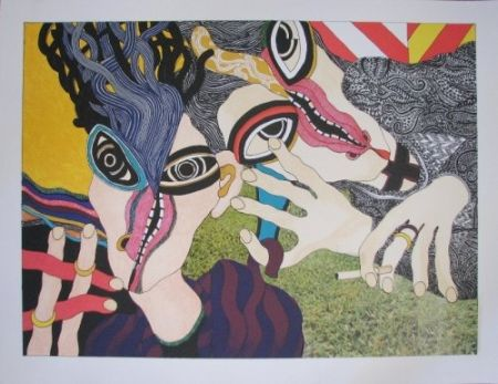 Lithographie Tola - Hay mujer, un animal callado que tú aún no conoces