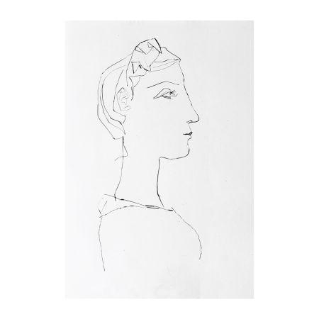 Gravure Picasso - Head of a Woman in Profile
