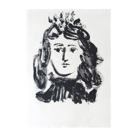 Gravure Picasso - Head of a Woman Wearing a Crown