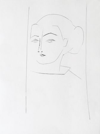 Gravure Picasso - Head of a Woman Wearing her hair in a Chignon