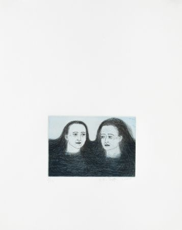 Gravure Smith - Heads in water