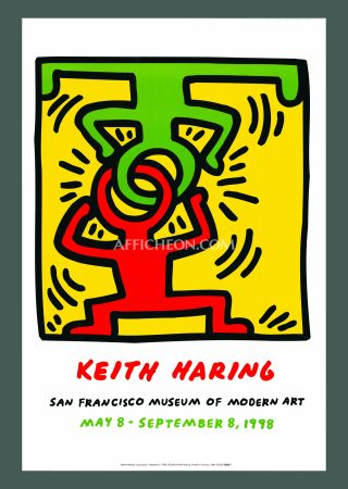Lithographie Haring - 'Headstand' 1998 Plate Signed Original Pop Art Poster