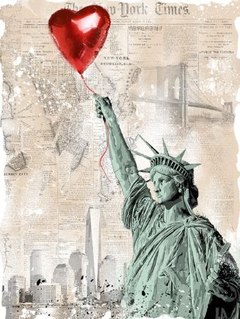Sérigraphie Mr Brainwash - Heart & Soul