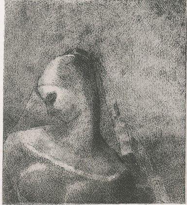 Lithographie Redon - Helene (Ennoia)