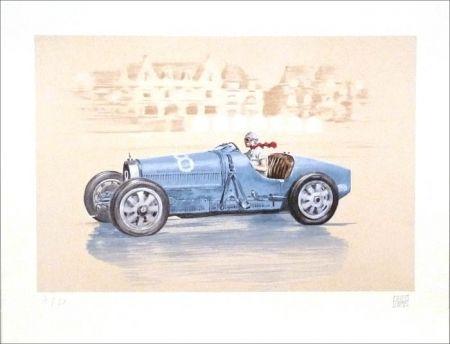 Lithographie Lavictoire - Helle Nice - Bugatti