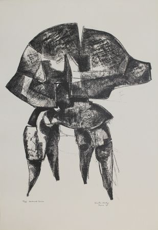 Lithographie Hadzi - Helmet Series
