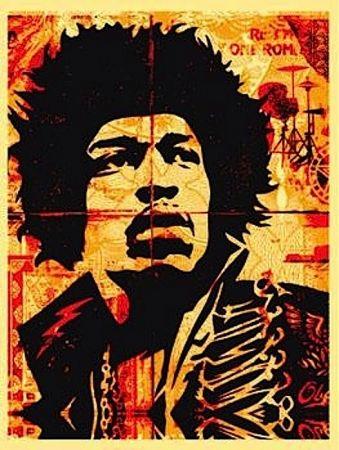 Sérigraphie Fairey - Hendrix