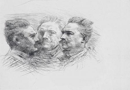 Gravure Rodin - Henri Becque