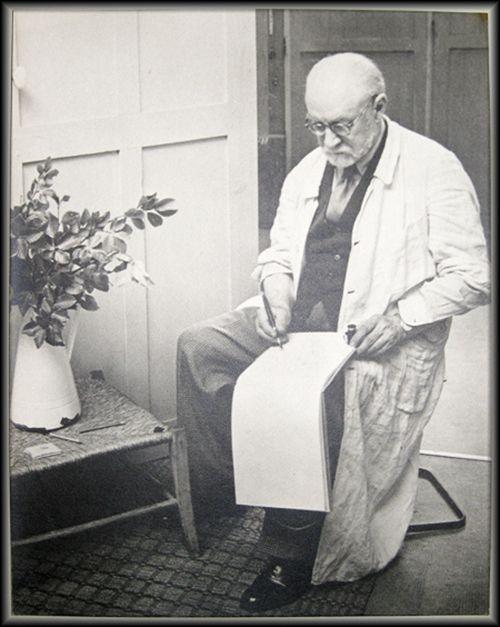 Photographie Matisse - Henri Matisse Sketching