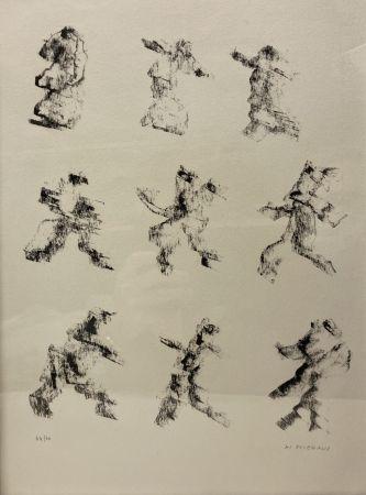 Lithographie Michaux - Henri Michaux (1899-1984). Lithographie signée et numérotée.