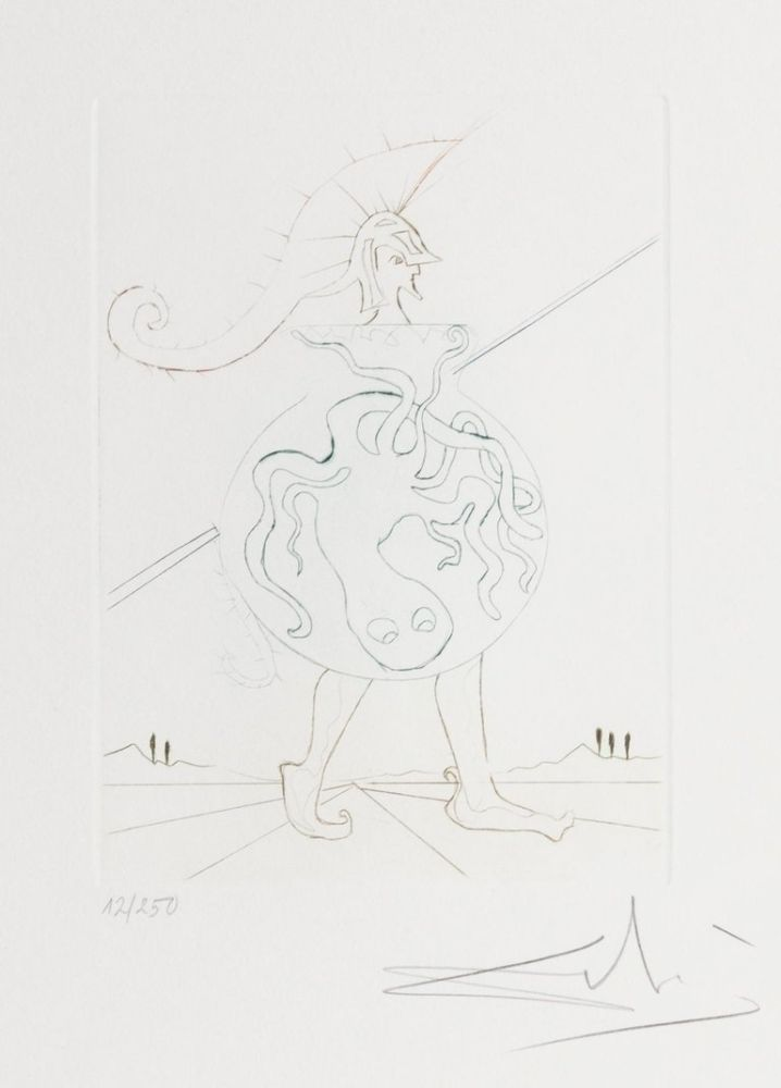 Gravure Dali - Henry V from Much Ado about Shakespeare