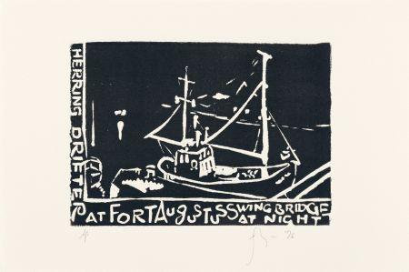 Linogravure Flanagan - Herring Drifter...