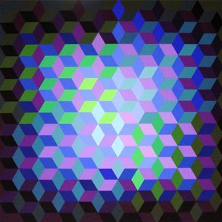 Sérigraphie Vasarely - Hexagon VII