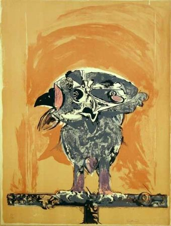 Lithographie Sutherland - Hibou
