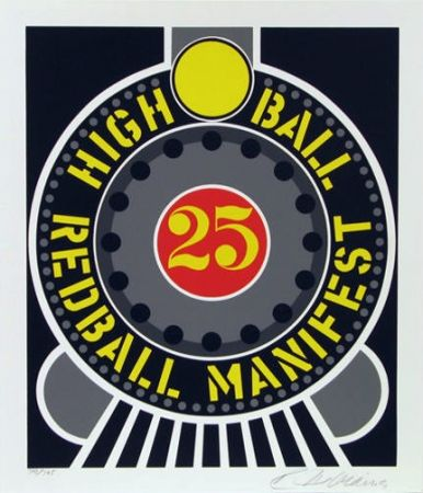 Sérigraphie Indiana - High ball red ball manifest