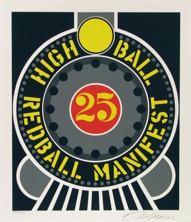 Sérigraphie Indiana - High Ball Red Ball Manifest 25
