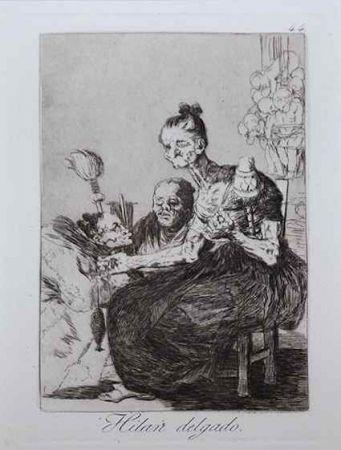 Eau-Forte Goya - Hilan delgado